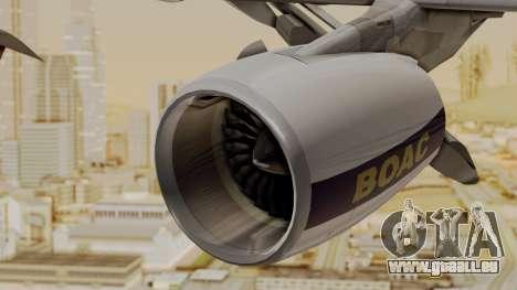 Airbus A380-800 British Overseas Airways Corp. für GTA San Andreas rechten Ansicht