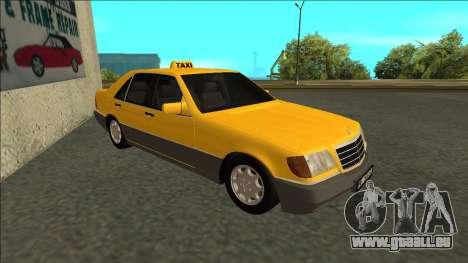 Mercedes-Benz W140 500SE Taxi 1992 pour GTA San Andreas laissé vue