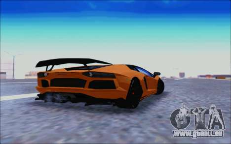 Lamborghini Aventador MV.1 [IVF] pour GTA San Andreas vue arrière