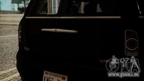 Mini Cooper Clubman 2011 Hatsune Miku Itasha für GTA San Andreas Rückansicht