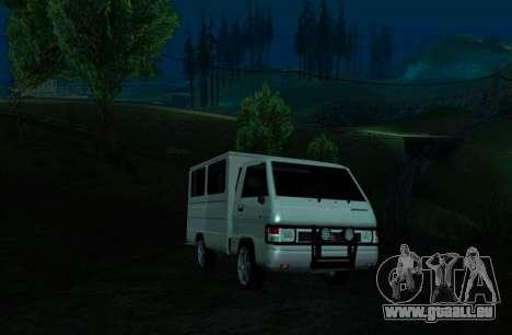 Mitsubishi L300 FB Van pour GTA San Andreas laissé vue