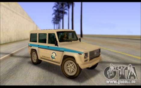 Benefactor Dubsta Jurassic World Lackierung für GTA San Andreas
