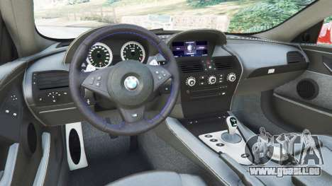 GTA 5 BMW M6 (E63) WideBody v0.1 [red] droite vue latérale