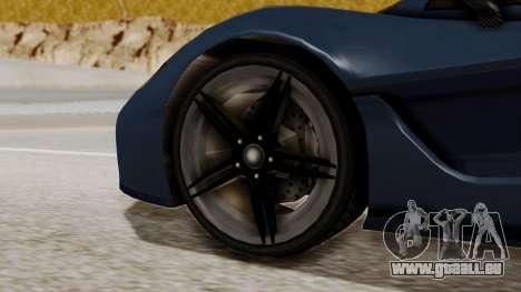 Citric Progen T20 pour GTA San Andreas sur la vue arrière gauche