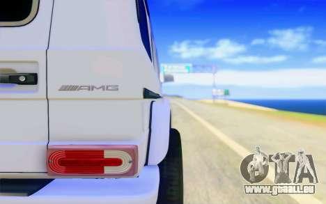 Mercedes-Benz G65 AMG pour GTA San Andreas vue de dessous