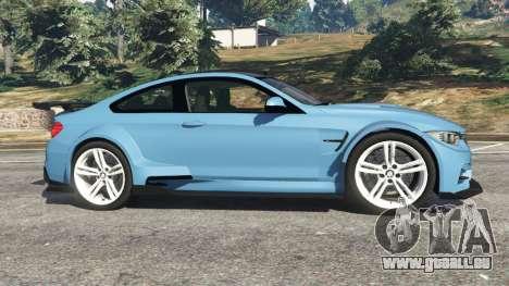 GTA 5 BMW M4 (F82) WideBody linke Seitenansicht