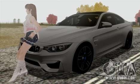 BMW M4 F82 pour GTA San Andreas vue de dessous