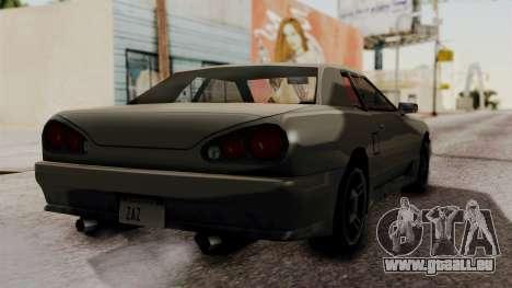 Elegy The Gold Car 2 pour GTA San Andreas laissé vue