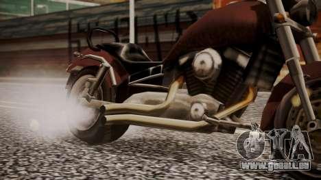New Freeway pour GTA San Andreas sur la vue arrière gauche