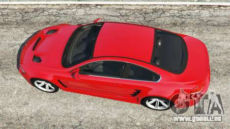 GTA 5 BMW M6 (E63) WideBody v0.1 [red] vue arrière