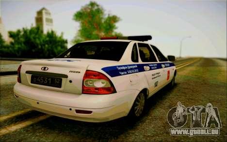 VAZ 2170 Priora DPS pour GTA San Andreas sur la vue arrière gauche