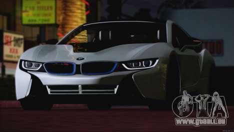 BMW i8 Coupe 2015 pour GTA San Andreas vue de côté