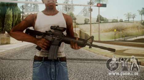M4 by catfromnesbox pour GTA San Andreas troisième écran