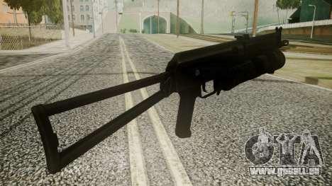 PP-19 Battlefield 3 pour GTA San Andreas troisième écran