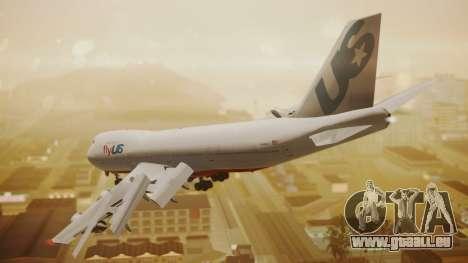 Boeing 747-200 Fly US für GTA San Andreas linke Ansicht