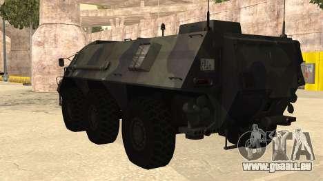 TPz 1 Fuchs Hummel pour GTA San Andreas laissé vue