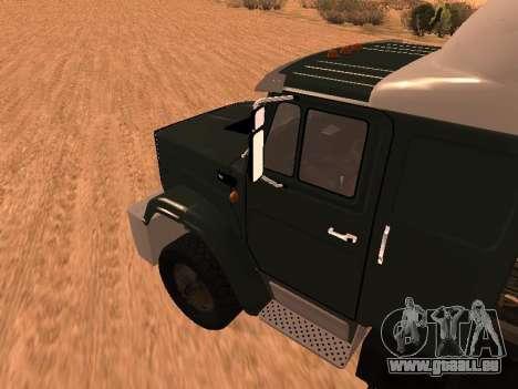 ZIL-133 05A pour GTA San Andreas sur la vue arrière gauche