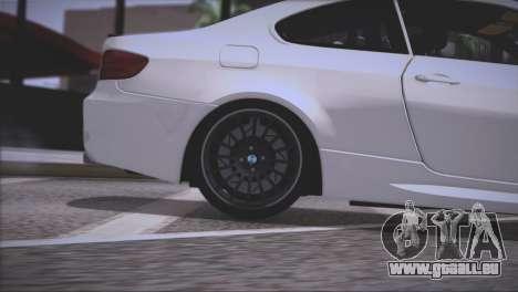 BMW M3 E92 2008 pour GTA San Andreas roue