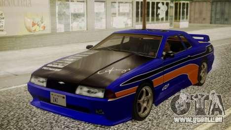 Elegy NR32 with Neon Exclusive PJ pour GTA San Andreas vue arrière