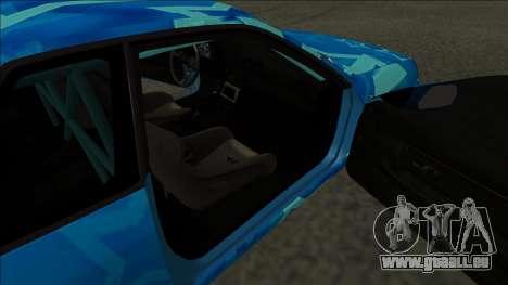 Nissan Skyline R32 Drift Blue Star pour GTA San Andreas sur la vue arrière gauche