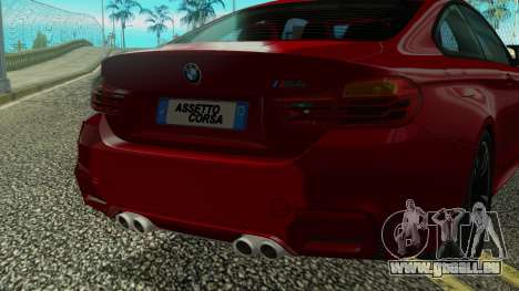 BMW M4 Coupe 2015 pour GTA San Andreas vue de côté