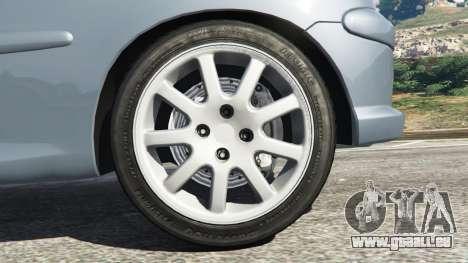 GTA 5 Peugeot 206 GTI arrière droit vue de côté