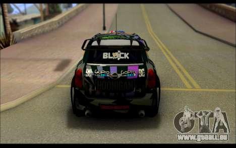 Mini Cooper Gymkhana 6 with Drift Handling pour GTA San Andreas vue arrière