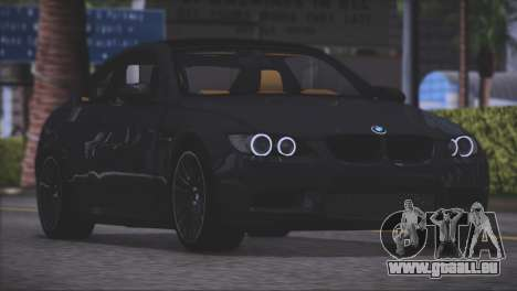 BMW M3 E92 2008 für GTA San Andreas zurück linke Ansicht