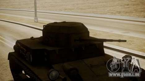 T2 Light Tank für GTA San Andreas rechten Ansicht