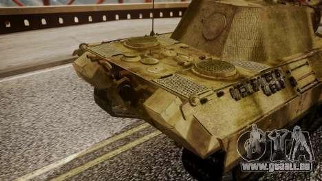 Panzerkampfwagen V Ausf. A Panther pour GTA San Andreas vue de droite