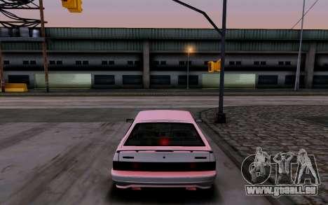 2114 Turbo pour GTA San Andreas vue de dessous
