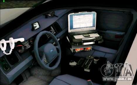 Weathersfield Police Crown Victoria für GTA San Andreas Rückansicht