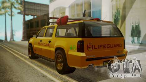 GTA 5 Declasse Granger Lifeguard IVF für GTA San Andreas linke Ansicht