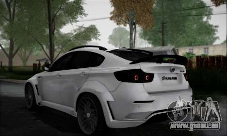 BMW X6M HAMANN Final pour GTA San Andreas vue arrière