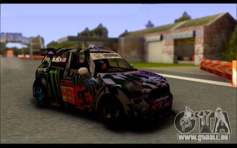 Mini Cooper Gymkhana 6 with Drift Handling für GTA San Andreas linke Ansicht