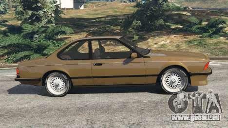 GTA 5 BMW M635 CSI (E24) 1986 vue latérale gauche