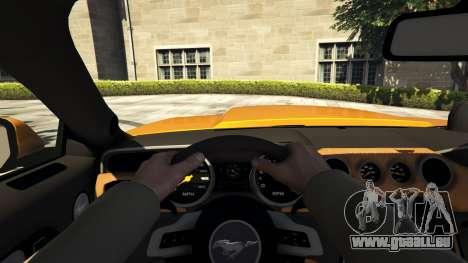 GTA 5 Ford Mustang GT RocketB & Wide Body Rückansicht