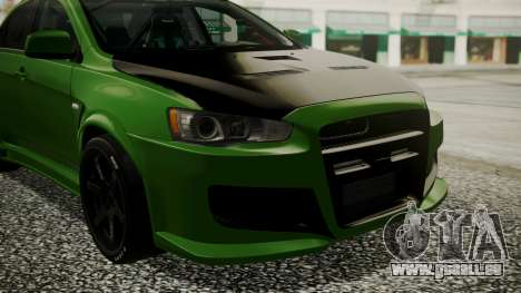 Mitsubishi Lancer Evolution X WBK für GTA San Andreas Rückansicht