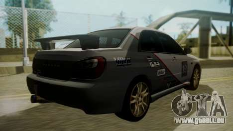 Subaru Impreza WRX GDA pour GTA San Andreas vue de dessous