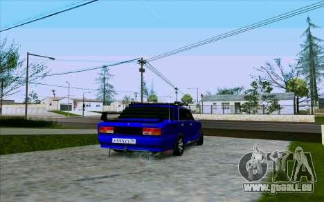 VAZ 2107 Tuning pour GTA San Andreas vue de droite