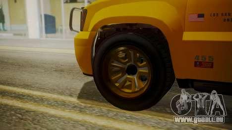 GTA 5 Declasse Granger Lifeguard IVF für GTA San Andreas zurück linke Ansicht