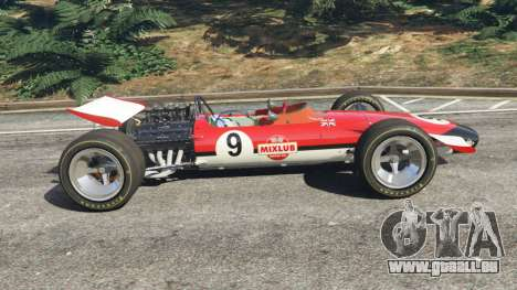 GTA 5 Lotus 49 1967 [ailerons] vue latérale gauche