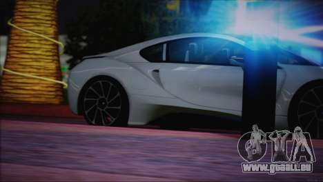 BMW i8 Coupe 2015 pour GTA San Andreas salon
