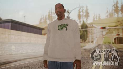 Sprunk Sweater Gray für GTA San Andreas zweiten Screenshot
