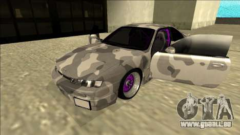 Nissan Silvia S14 Army Drift für GTA San Andreas Rückansicht