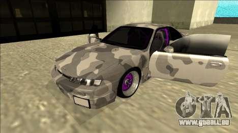Nissan Silvia S14 Army Drift pour GTA San Andreas vue arrière