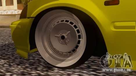 Honda Civic Taxi für GTA San Andreas zurück linke Ansicht