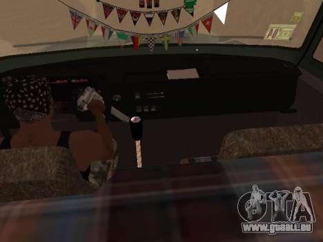 ZIL-133 05A pour GTA San Andreas vue de dessous