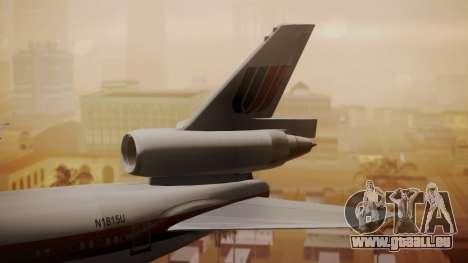 DC-10-10 United Airlines (80s Livery) für GTA San Andreas zurück linke Ansicht