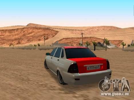 VAZ 2170 pour GTA San Andreas laissé vue